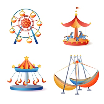 Carousel icons set