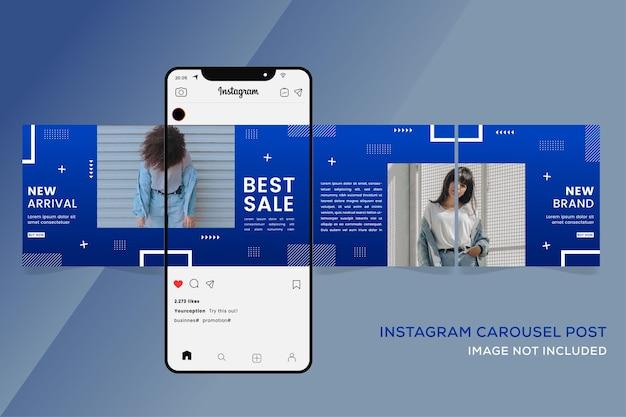패션 판매 프리미엄을위한 회전 목마 instagram 템플릿