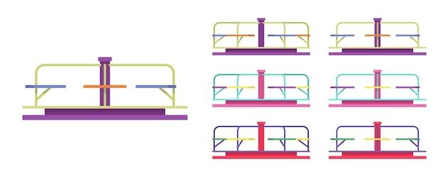 Carousel set, merry-go-round park equipment