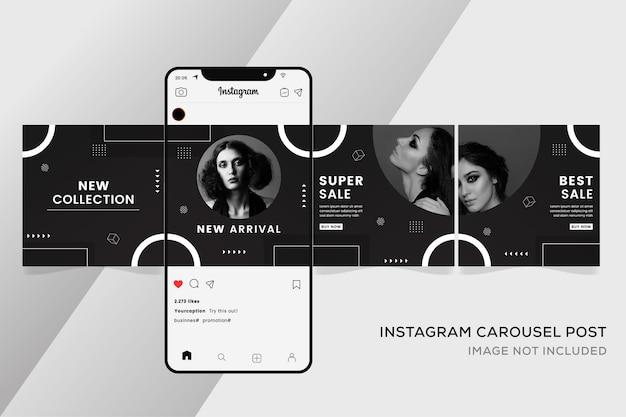 Carousel templates for social media premium