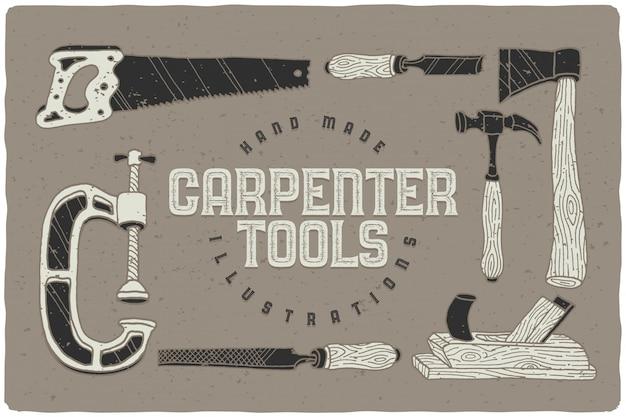 Carpenter tools drawing