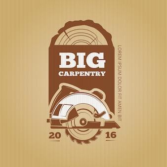 Carpenter vector vintage design for poster