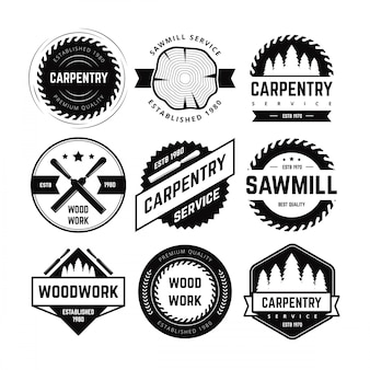 Carpentry badge vector