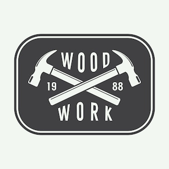 Carpentry label, emblem