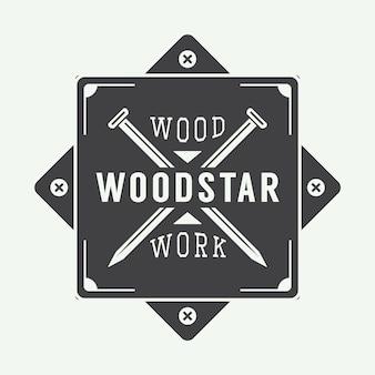 Carpentry label, emblem
