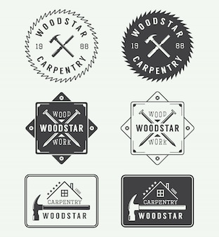 Carpentry labels, emblems