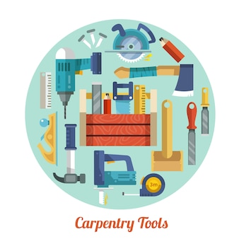Carpentry tools set