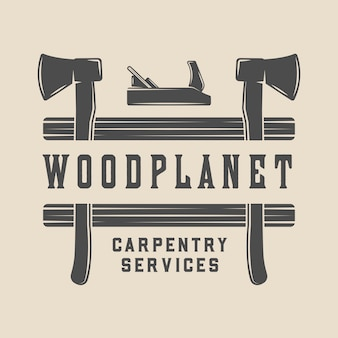 Carpentry, woodwork badge