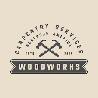 Carpentry woodwork emblem