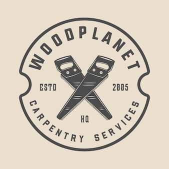 Carpentry, woodwork emblem
