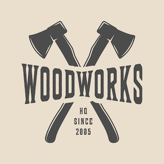 Carpentry, woodwork logo