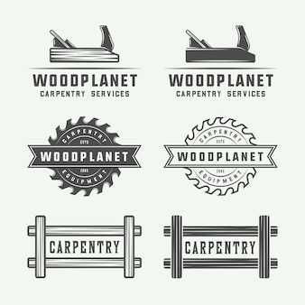 Carpentry, woodwork logos