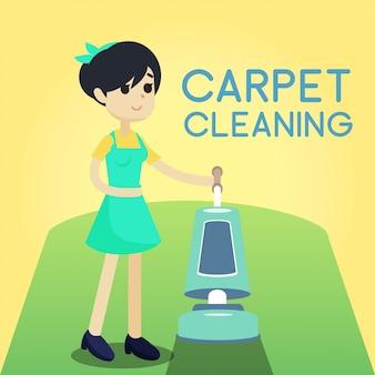 Carpet cleaning illustration