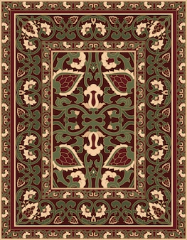 Carpet with abstract flowers.