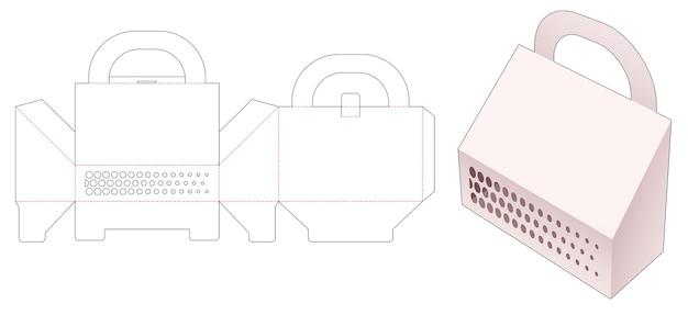 스텐실 하프 톤 도트 다이 컷 템플릿이있는 캐리어 슬포 포장 상자