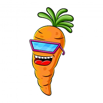 Carrot character design or carrot mascot