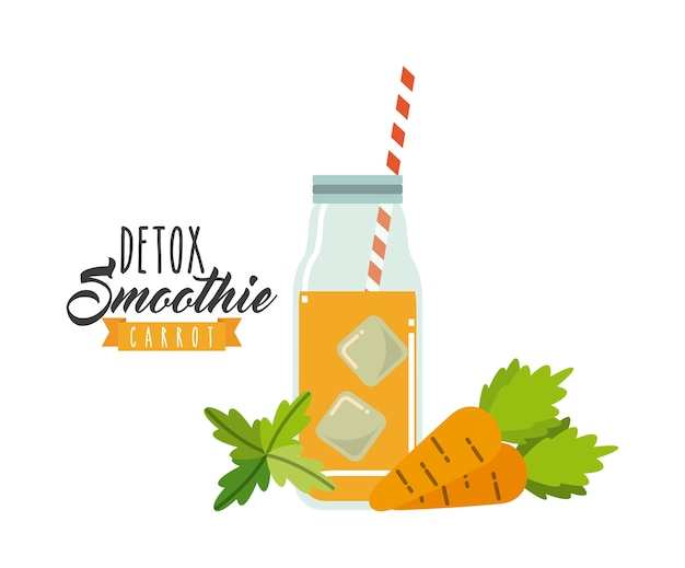 Carrot detox icon. smoothie and juice design. vector graphic