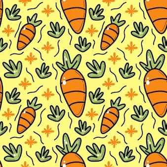Carrot doddle seamless pattern
