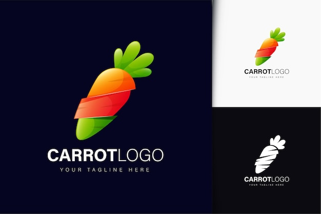 Carrot logo design with gradient
