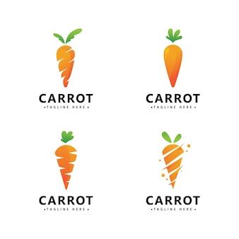 Шаблон оформления векторных значок морковь логотип