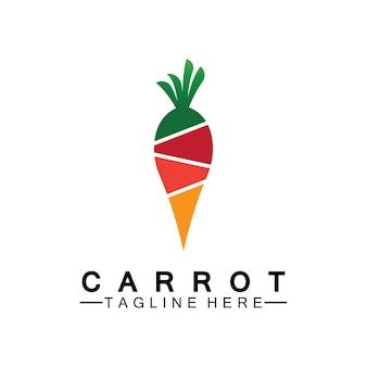 Carrot logo vector icon illustration design template
