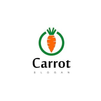 Carrot logo, vegan label design vector