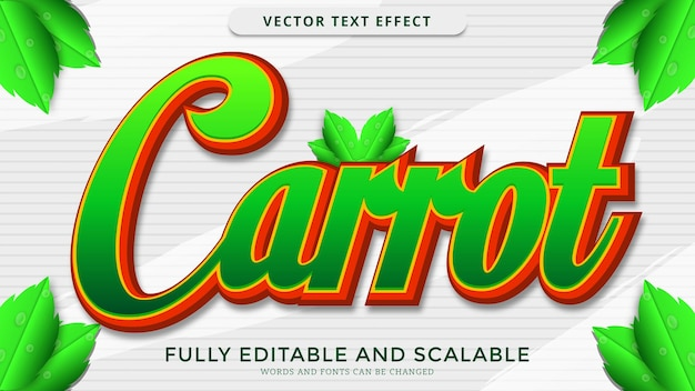 Carrot text effect editable eps file