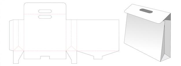 Carrying bag die cut template design
