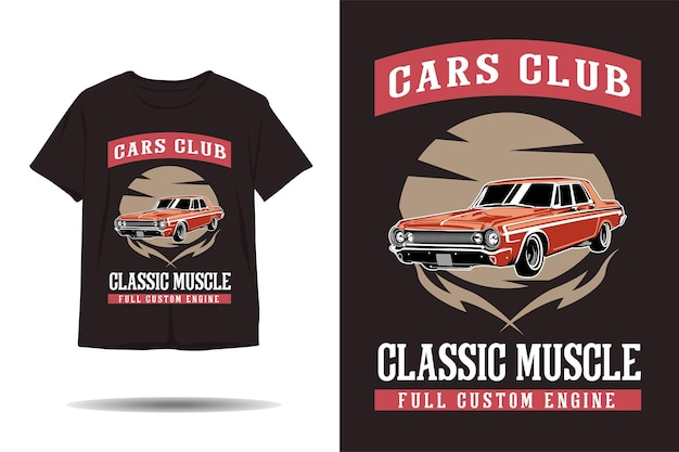 자동차 클럽 클래식 근육 전체 사용자 정의 엔진 그림 tshirt 디자인
