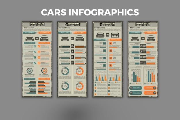 車のインフォグラフィックテンプレート