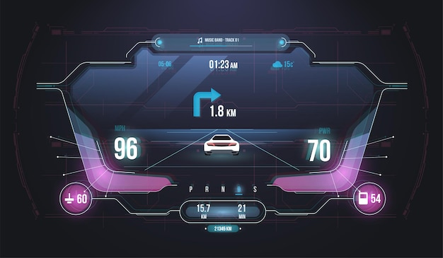 Cars infographic ui, analysis and diagnostics in the hud style.