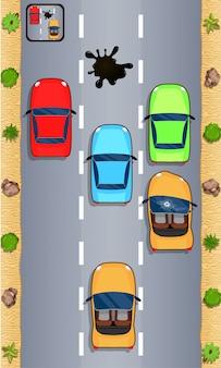 車のレーストラックゲーム