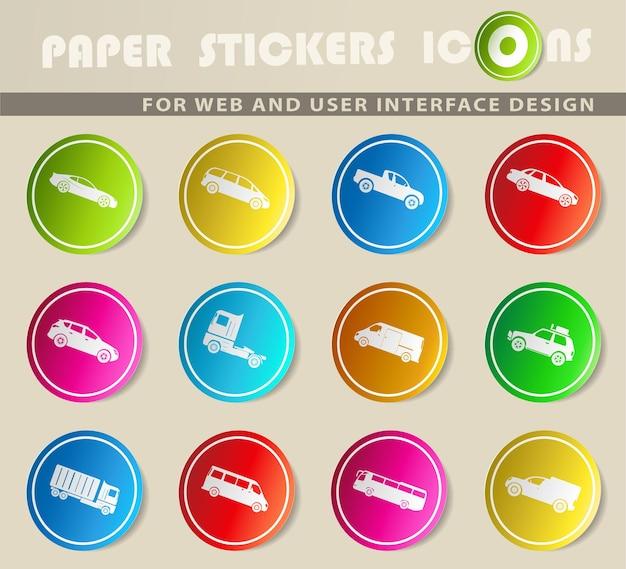 Автомобили - просто символы для веб-интерфейса и пользовательского интерфейса.