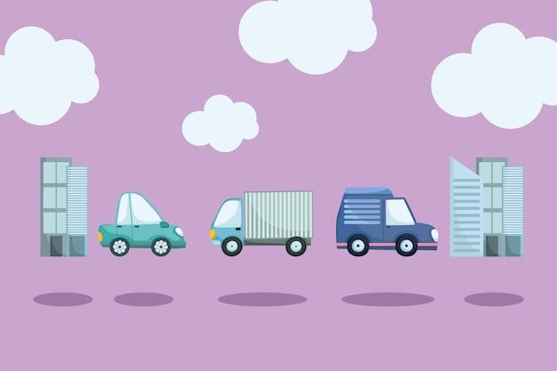 Cars urban city
