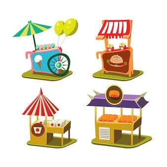 Cart stall and ice cream