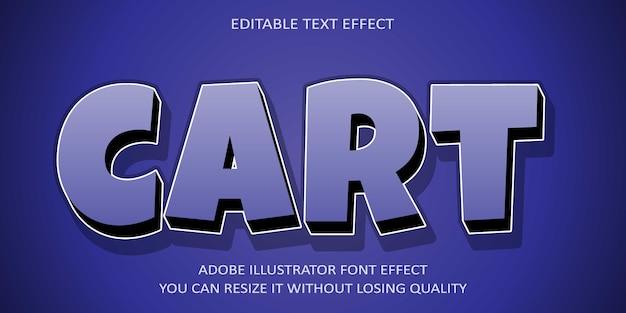 Cart   text effect