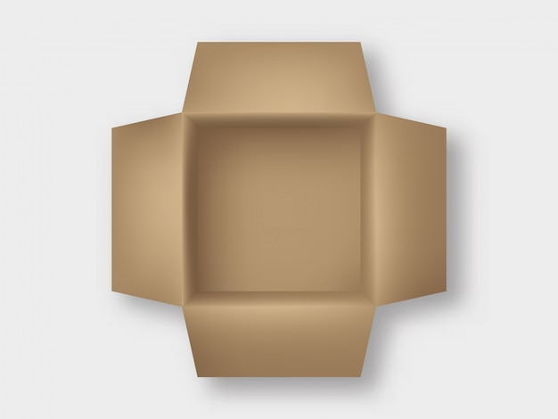 Carton box top view