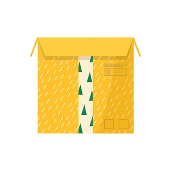 Carton packages with adhesive tape for delivery icons. set of postal parcels, packs, boxes, letters, envelopes. parcel for online delivery service concept. isolated vector