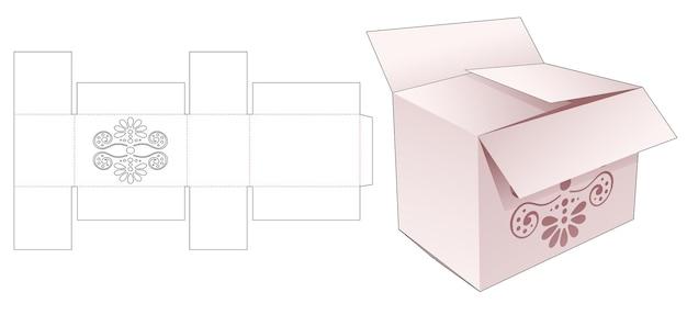 Картонная коробка с высеченным шаблоном мандалы