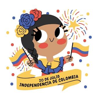 漫画20de julio-independencia decolombiaイラスト