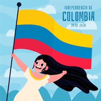 Cartoon 20 de julio - illustrazione di indipendenza della colombia