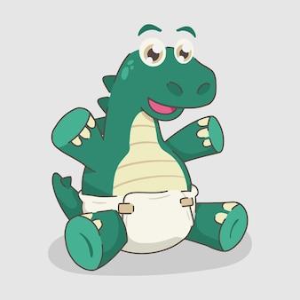 Милый мультфильм динозавр