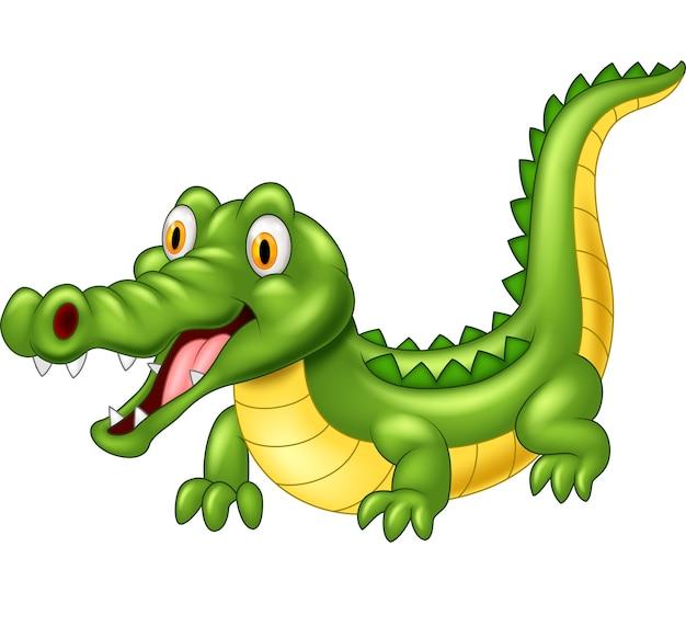 Cartoon adorable crocodile