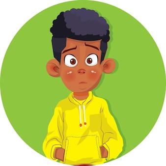 만화 아프리카계 미국인 소년 아프리카 아이 얼굴