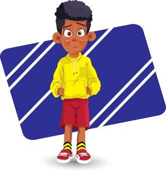만화 아프리카계 미국인 소년 아프리카 아이