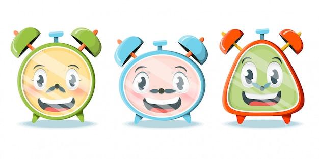 Cartoon alarm clocks