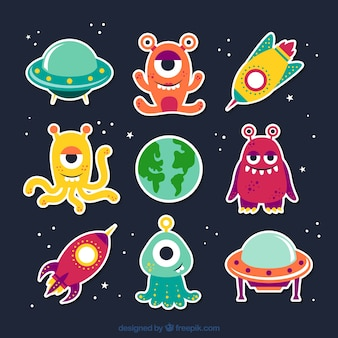 Cartoon aliens