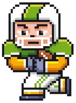 Мультяшный американский футболист - pixel design