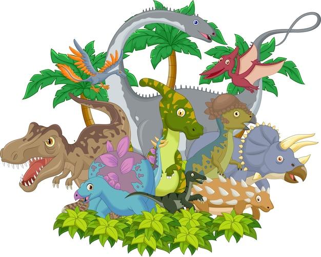 Cartoon animal dinosaur