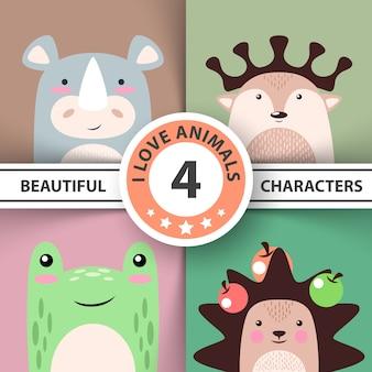 Набор мультфильмов животных